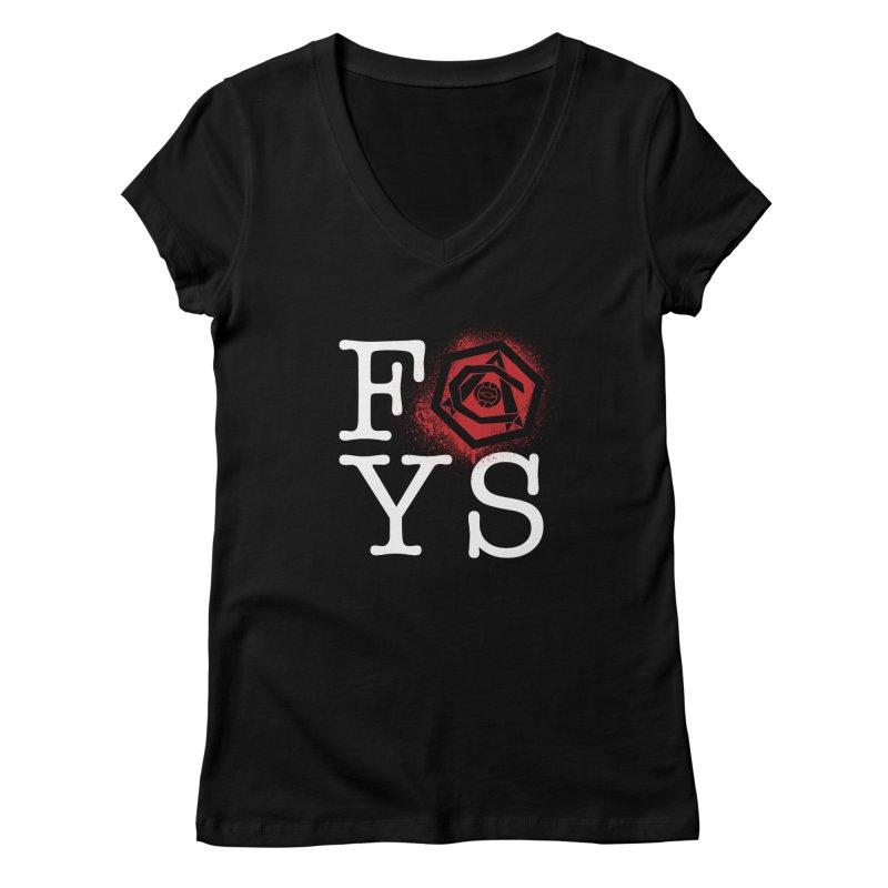 FOYS (BLACK) Women's Regular V-Neck by Fees Tees