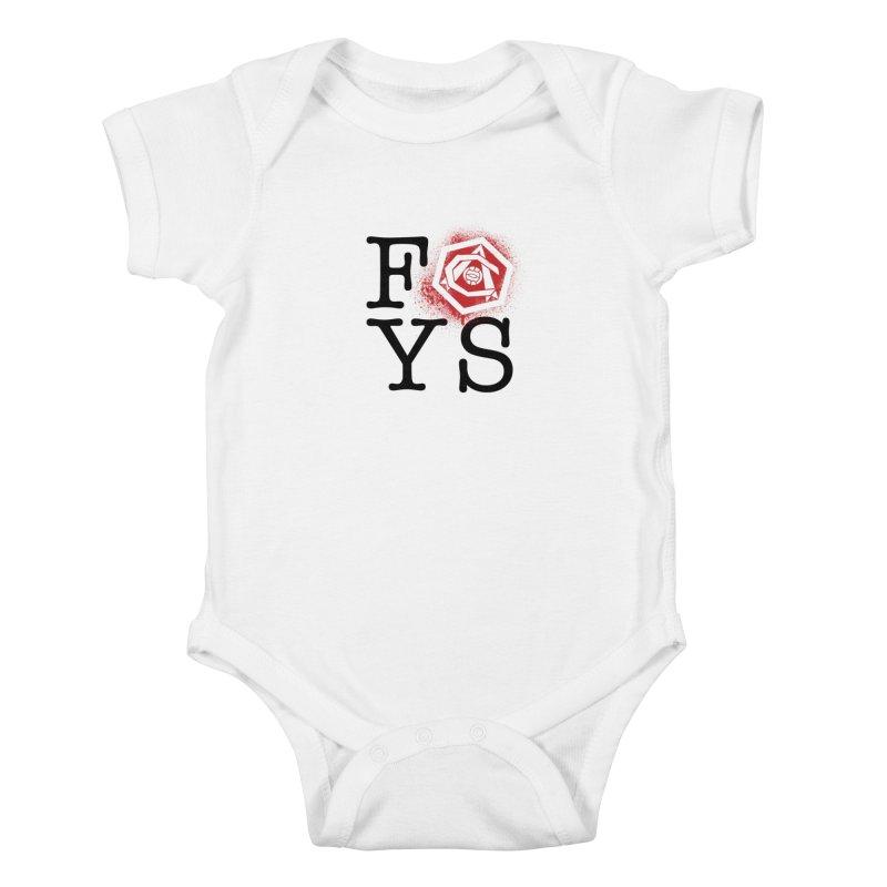 FOYS (WHITE) Kids Baby Bodysuit by Fees Tees