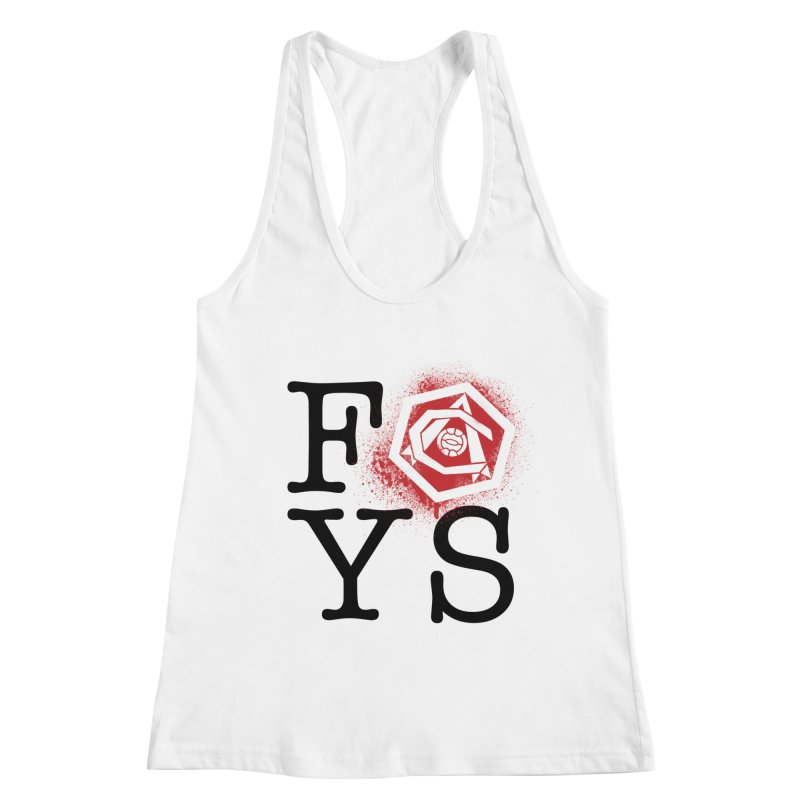 FOYS (WHITE) Women's Racerback Tank by Fees Tees