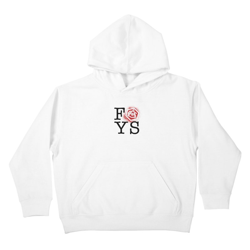 FOYS (WHITE) Kids Pullover Hoody by Fees Tees