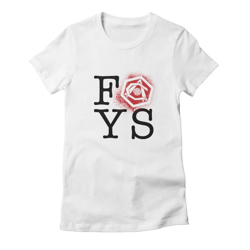 FOYS (WHITE) Women's Fitted T-Shirt by Fees Tees