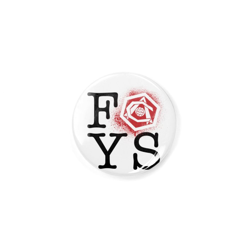 FOYS (WHITE) Accessories Button by Fees Tees
