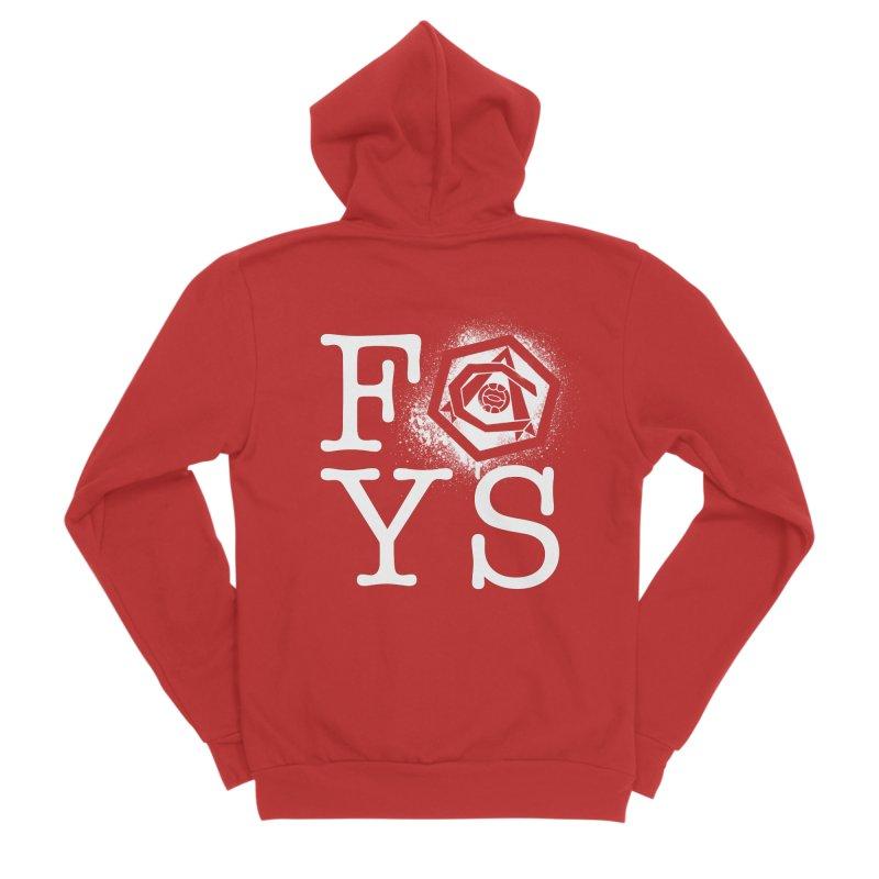 FOYS (RED) in Men's Sponge Fleece Zip-Up Hoody Red by Fees Tees
