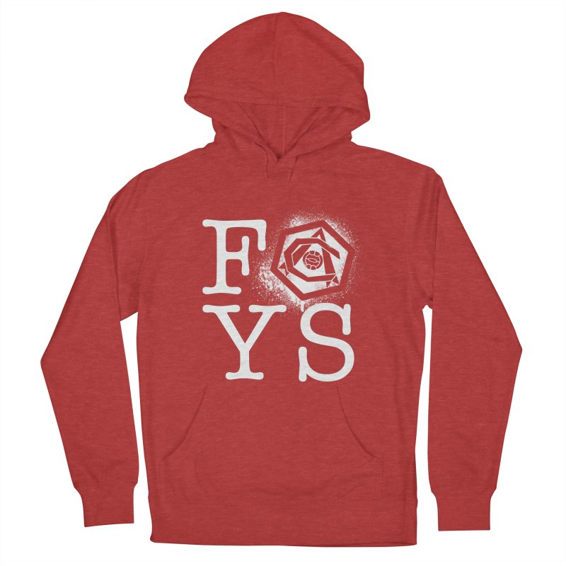 FOYS (RED) Women's French Terry Pullover Hoody by Fees Tees