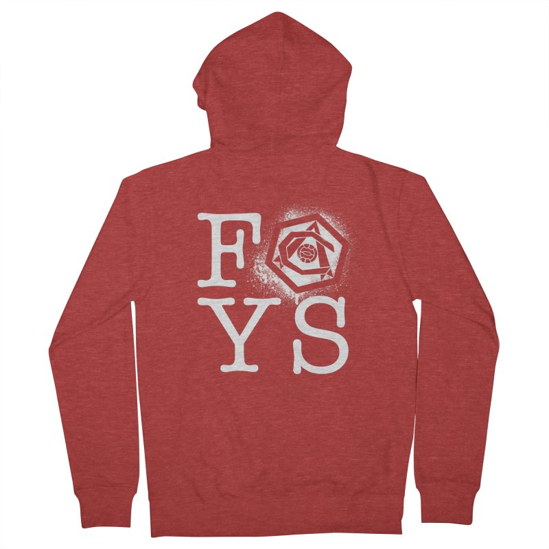 FOYS (RED) Women's French Terry Zip-Up Hoody by Fees Tees