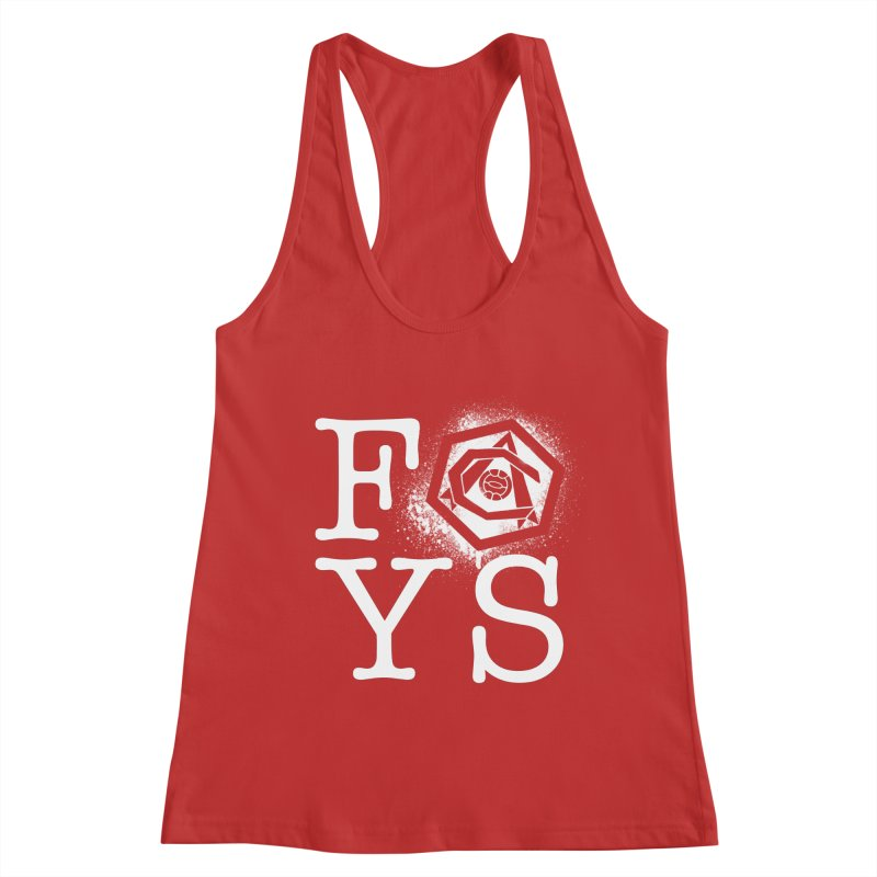 FOYS (RED) Women's Racerback Tank by Fees Tees