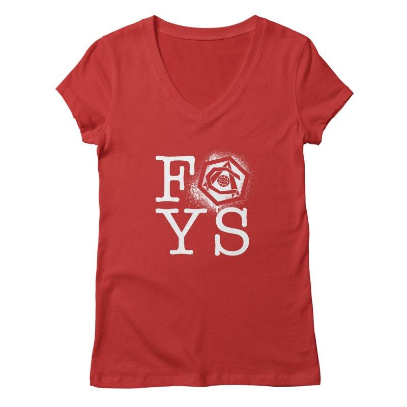FOYS (RED) Women's Regular V-Neck by Fees Tees