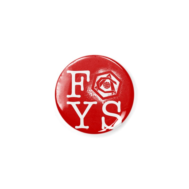 FOYS (RED) Accessories Button by Fees Tees