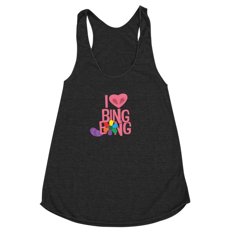 I Love BING-BONG! Women's Racerback Triblend Tank by Fees Tees