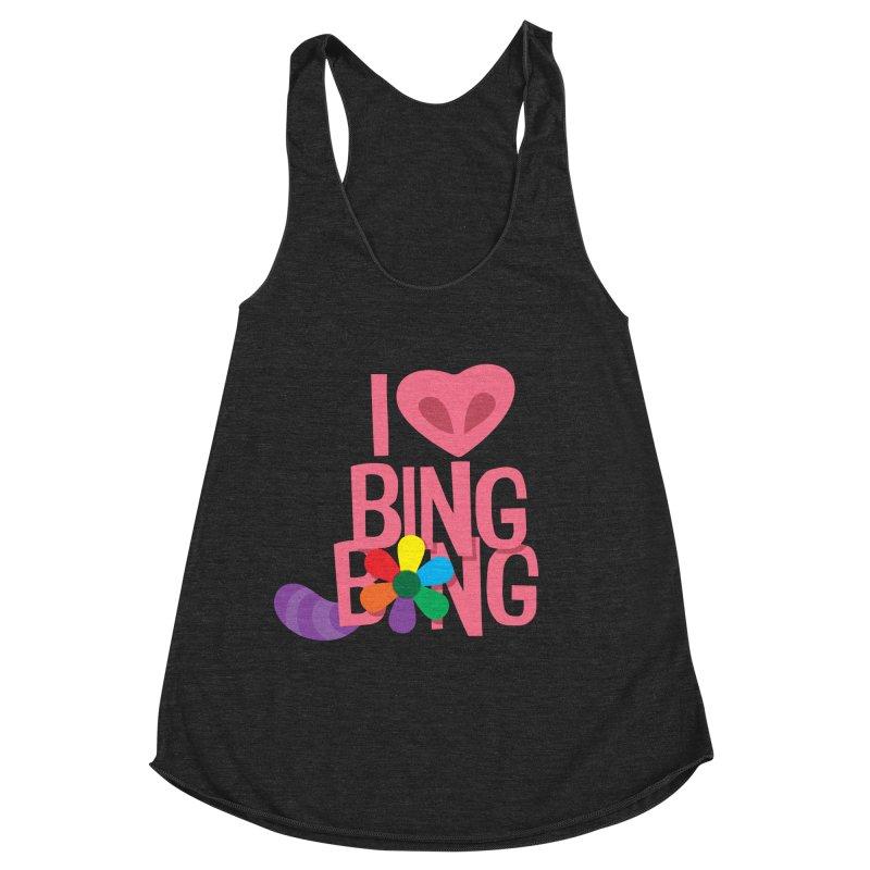 I Love BING-BONG! Women's Racerback Triblend Tank by Fees Tees