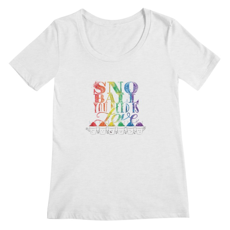 Snoball You Need is Love Women's Regular Scoop Neck by Fees Tees