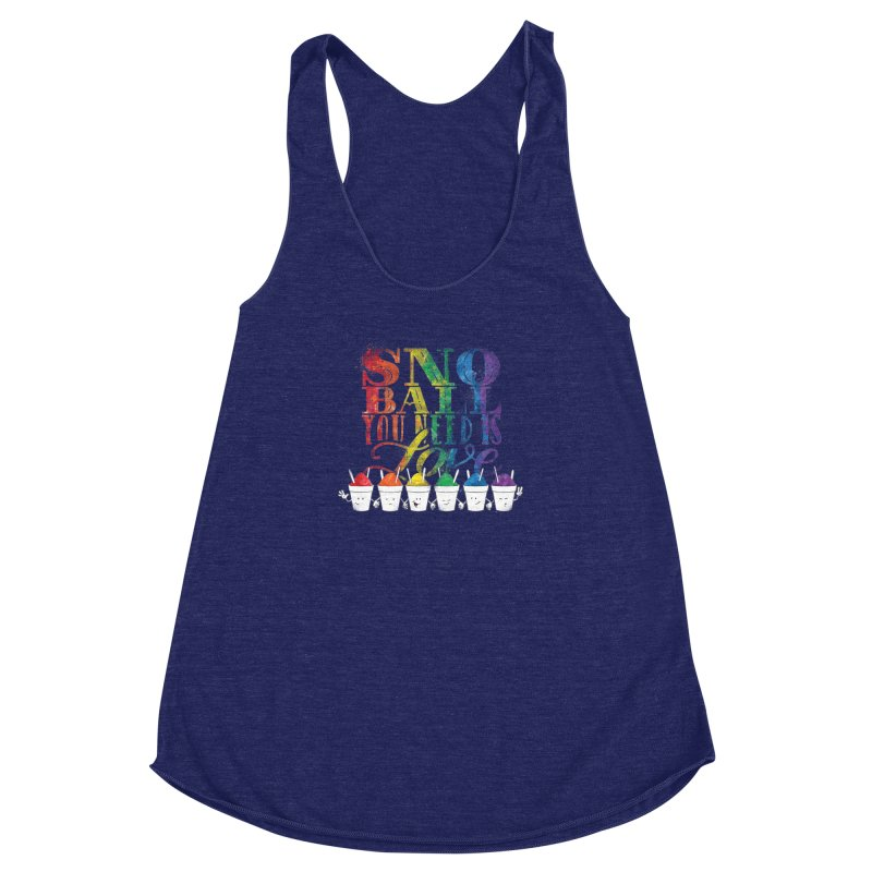 Snoball You Need is Love Women's Racerback Triblend Tank by Fees Tees
