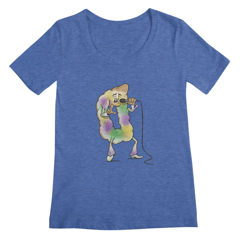 """The """"King"""" Cake Women's Regular Scoop Neck by Fees Tees"""