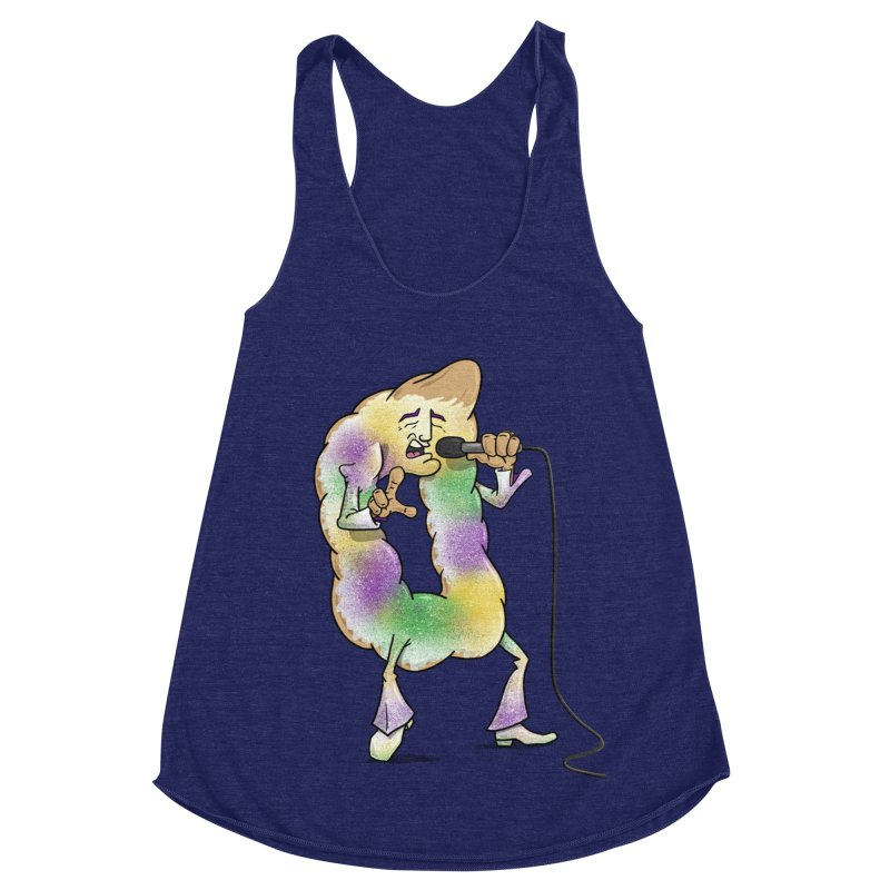 """The """"King"""" Cake Women's Racerback Triblend Tank by Fees Tees"""