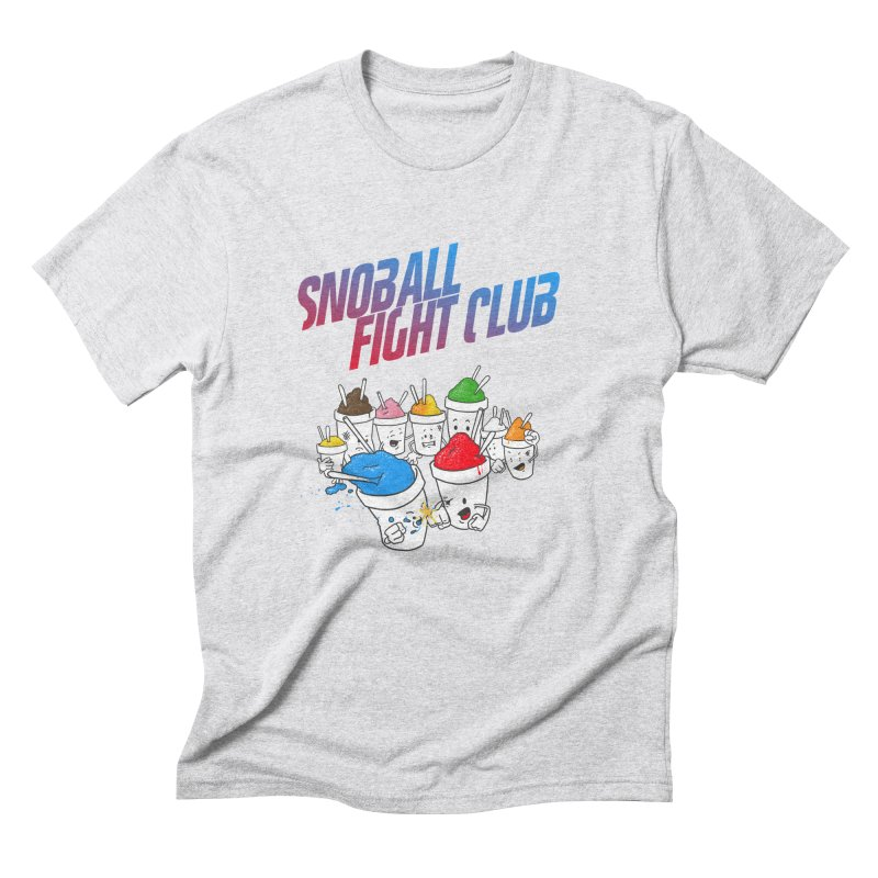 Snoball Fight Club in Men's Triblend T-Shirt Heather White by Fees Tees