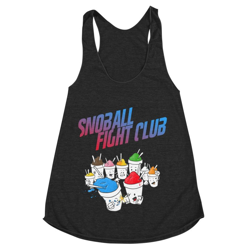 Snoball Fight Club Women's Racerback Triblend Tank by Fees Tees