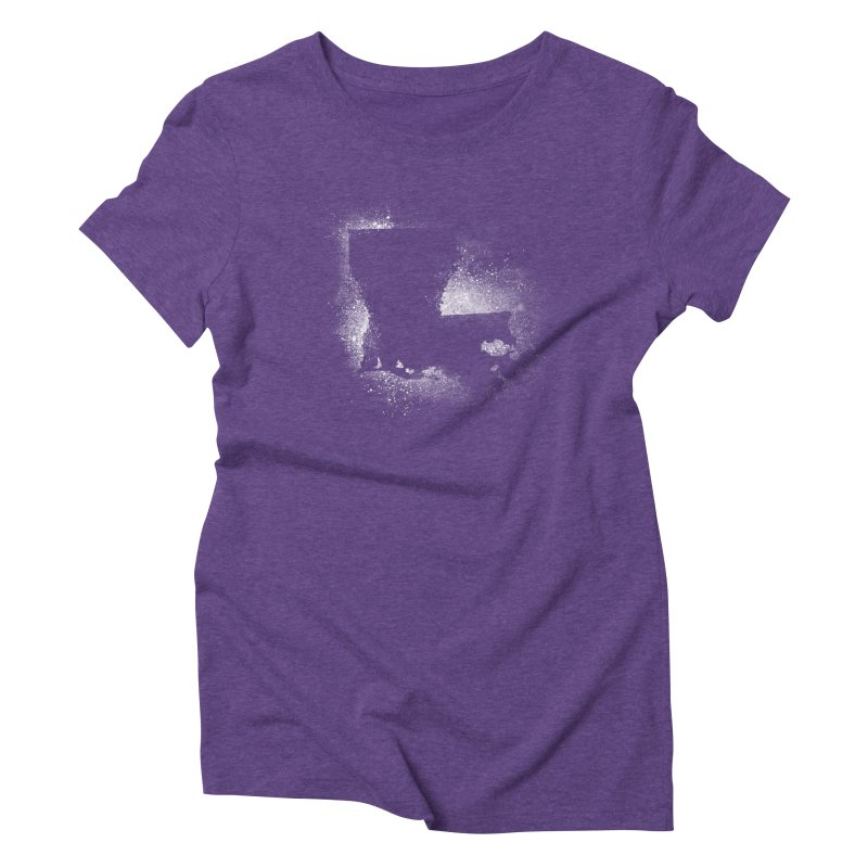 The Pre-Sugared Shirt! in Women's Triblend T-Shirt Tri-Purple by Fees Tees