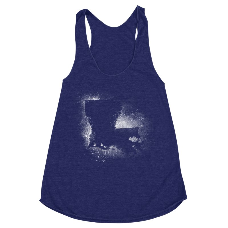 The Pre-Sugared Shirt! Women's Racerback Triblend Tank by Fees Tees