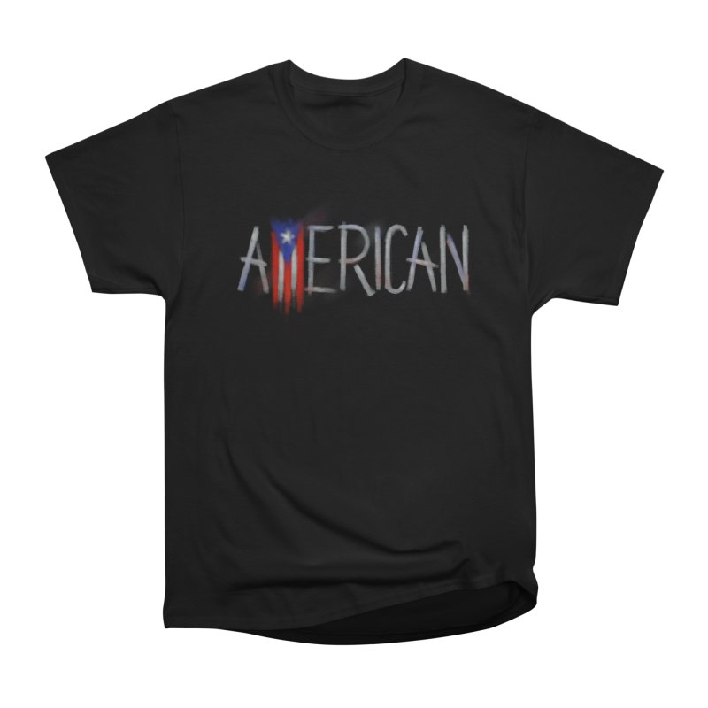 Puerto Rican American Women's Heavyweight Unisex T-Shirt by Fees Tees