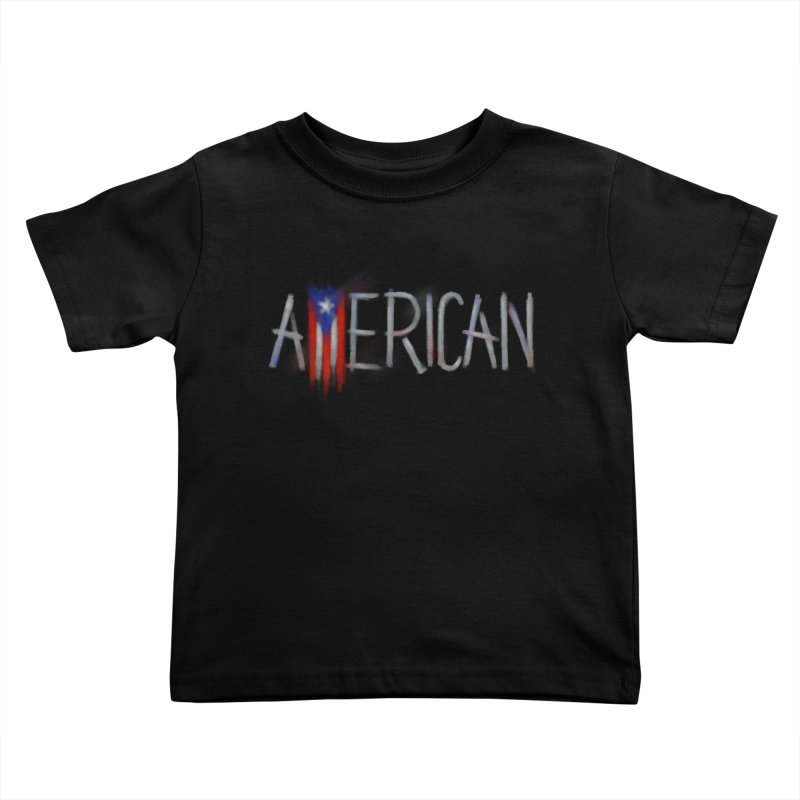 Puerto Rican American Kids Toddler T-Shirt by Fees Tees