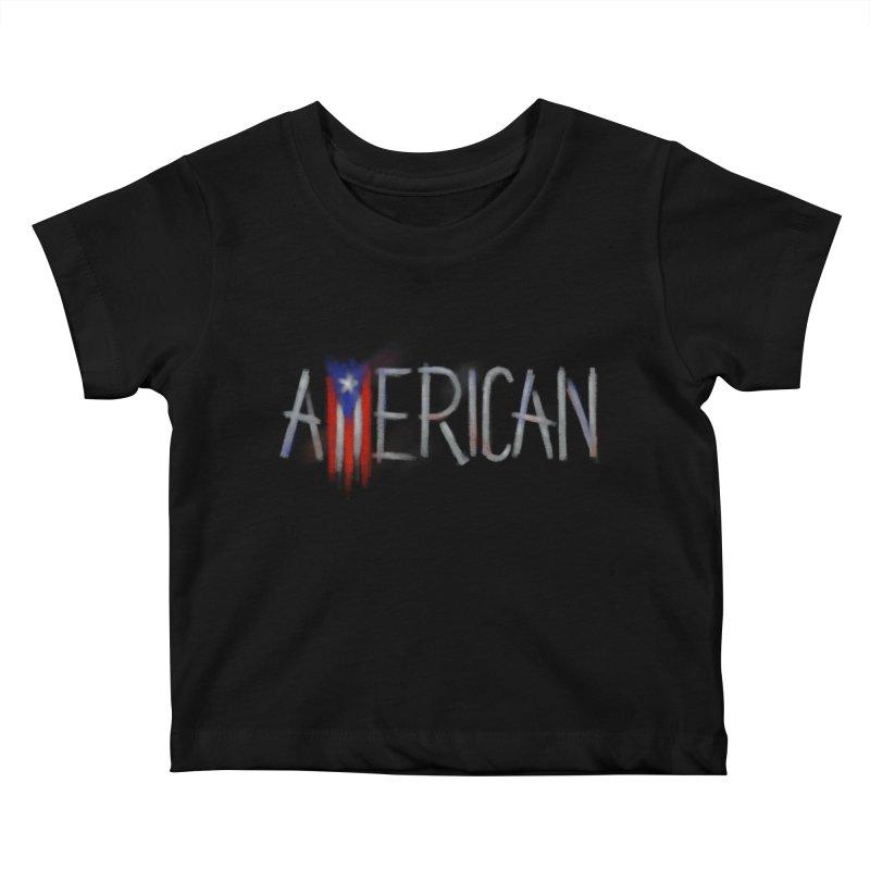 Puerto Rican American Kids Baby T-Shirt by Fees Tees