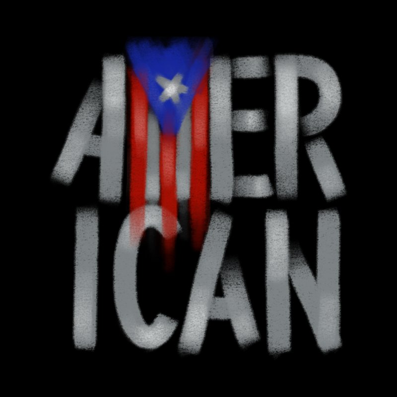 Puerto Rican American II by Fees Tees
