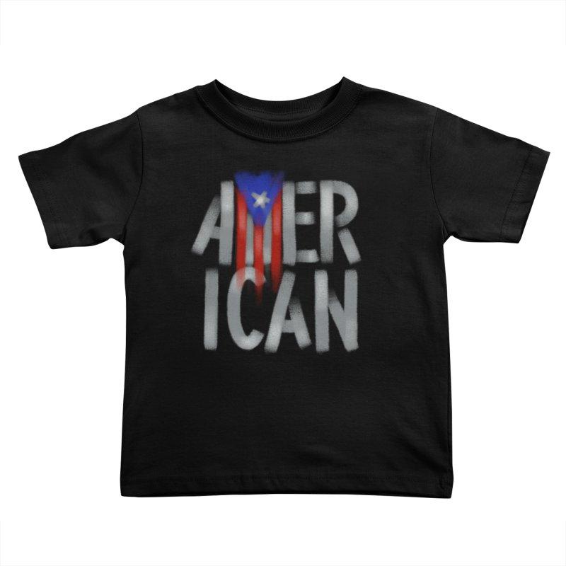 Puerto Rican American II Kids Toddler T-Shirt by Fees Tees