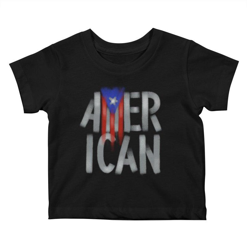 Puerto Rican American II Kids Baby T-Shirt by Fees Tees
