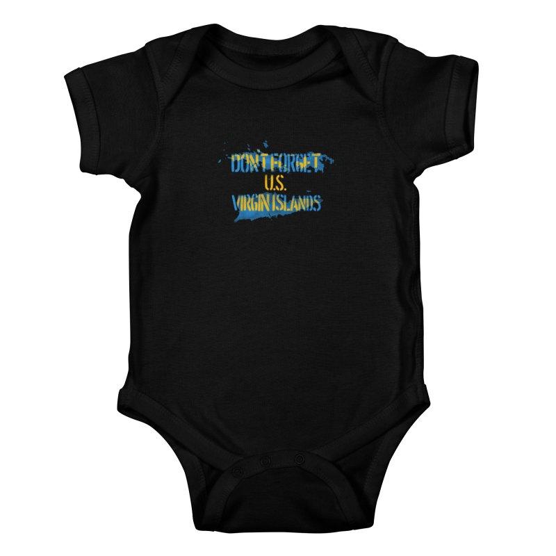 Don't Forget U.S Virgin Islands Kids Baby Bodysuit by Fees Tees