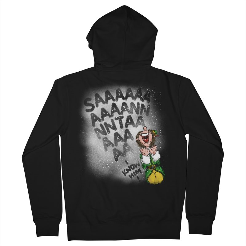 Santa... I Know Him! Women's French Terry Zip-Up Hoody by Fees Tees