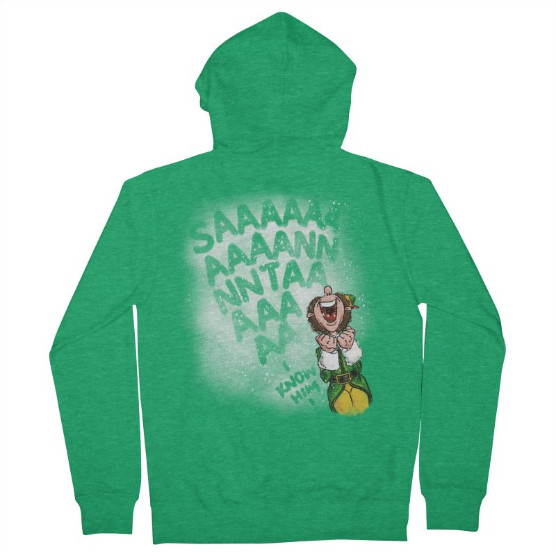 Santa... I Know Him! Men's French Terry Zip-Up Hoody by Fees Tees