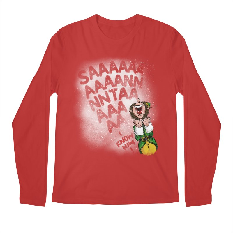 Santa... I Know Him! Men's Regular Longsleeve T-Shirt by Fees Tees