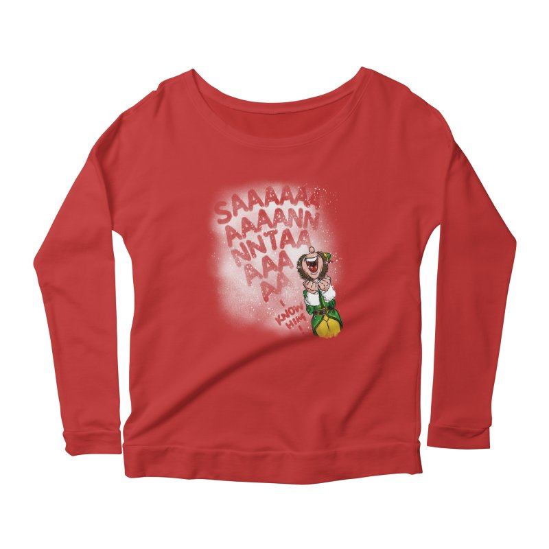 Santa... I Know Him! Women's Scoop Neck Longsleeve T-Shirt by Fees Tees