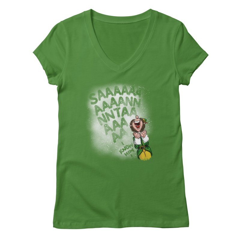 Santa... I Know Him! Women's Regular V-Neck by Fees Tees