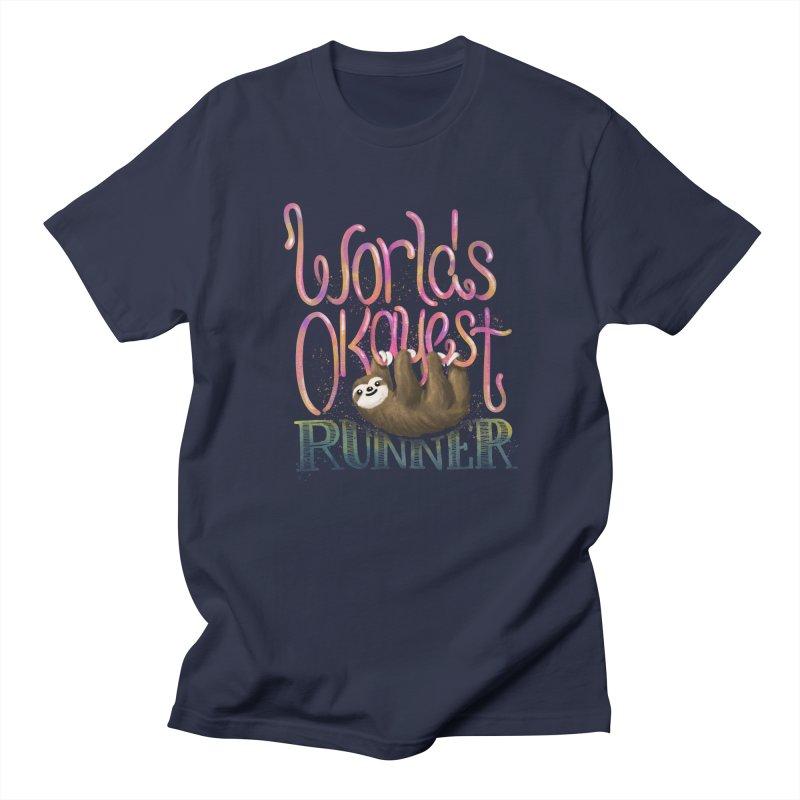 Worlds Okayest Runner (Sloth) Men's Regular T-Shirt by Fees Tees