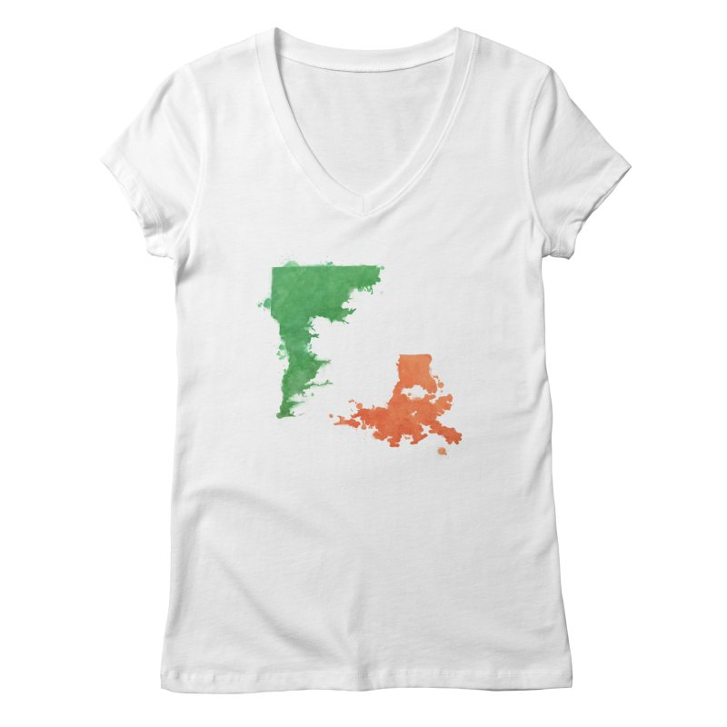 Ireland, LA Women's Regular V-Neck by Fees Tees