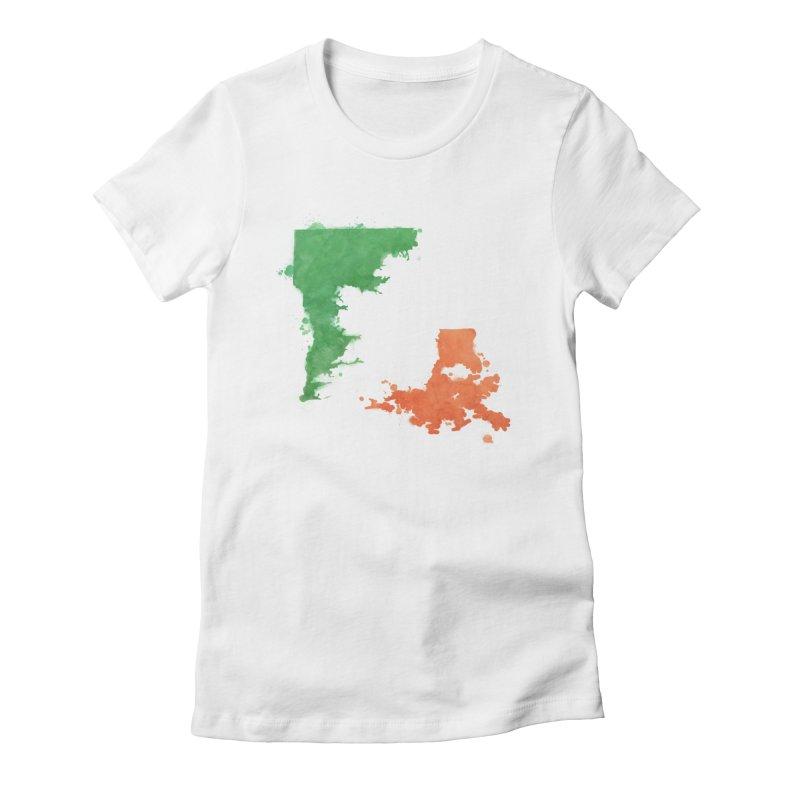 Ireland, LA Women's Fitted T-Shirt by Fees Tees