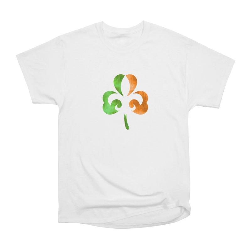 Shamrock De Lis - Color Women's Heavyweight Unisex T-Shirt by Fees Tees