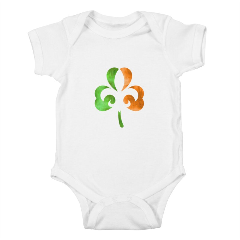 Shamrock De Lis - Color Kids Baby Bodysuit by Fees Tees