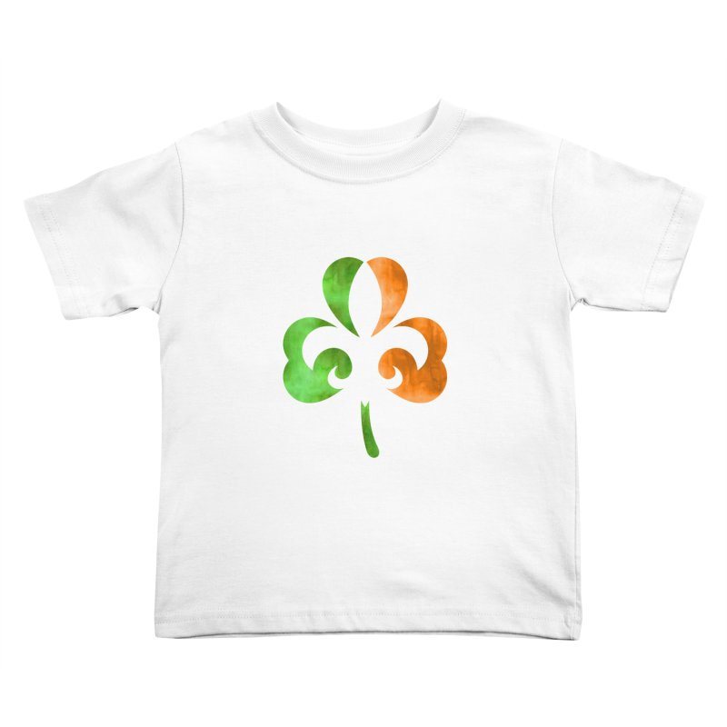 Shamrock De Lis - Color Kids Toddler T-Shirt by Fees Tees