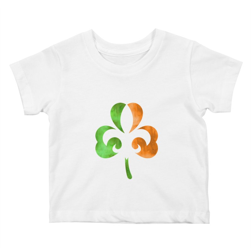 Shamrock De Lis - Color Kids Baby T-Shirt by Fees Tees