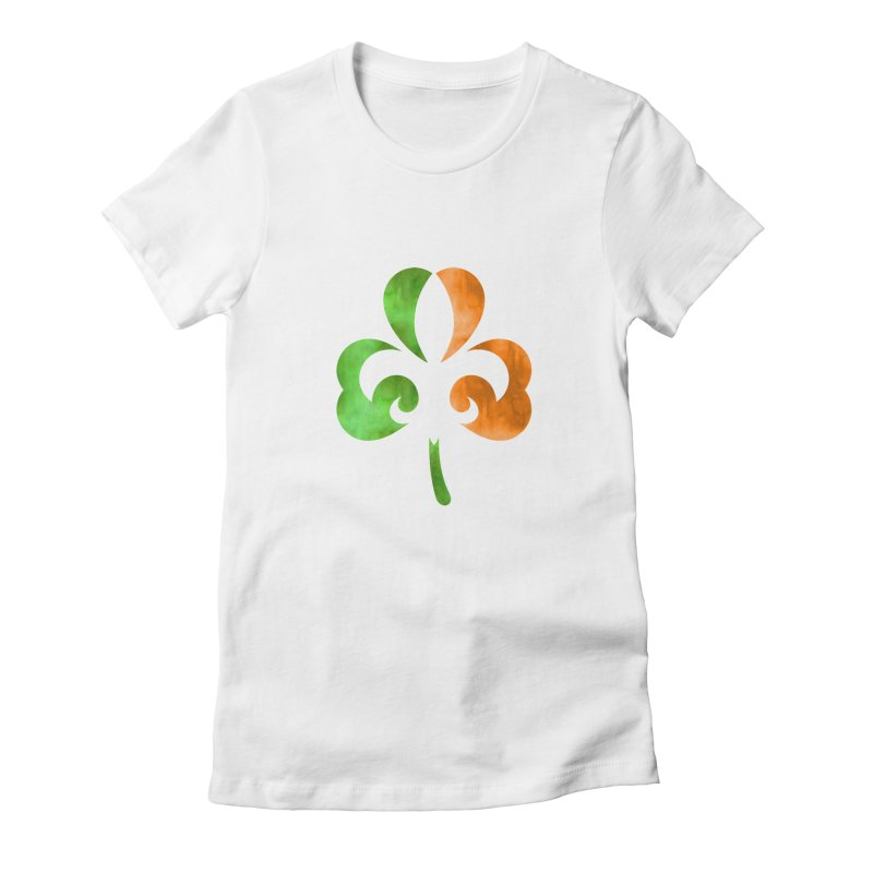 Shamrock De Lis - Color Women's Fitted T-Shirt by Fees Tees