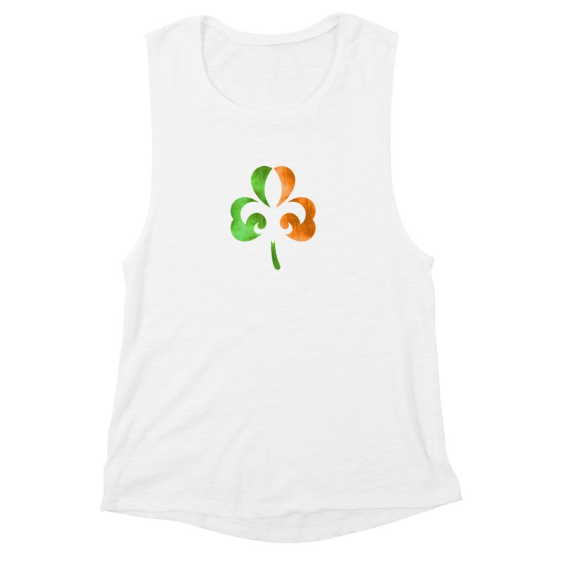 Shamrock De Lis - Color Women's Muscle Tank by Fees Tees