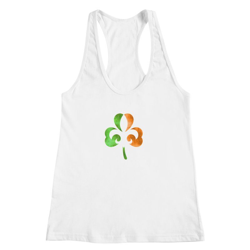 Shamrock De Lis - Color Women's Racerback Tank by Fees Tees