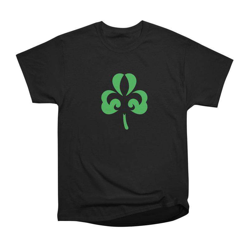 Shamrock De Lis - Green Men's Heavyweight T-Shirt by Fees Tees