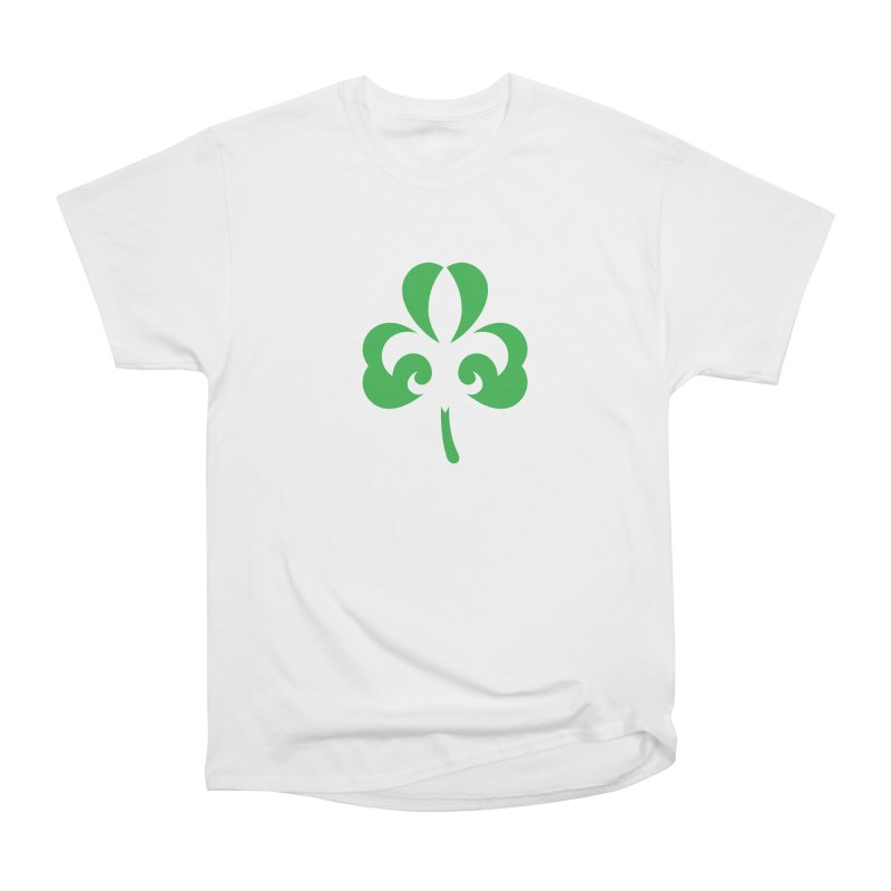 Shamrock De Lis - Green Women's Heavyweight Unisex T-Shirt by Fees Tees