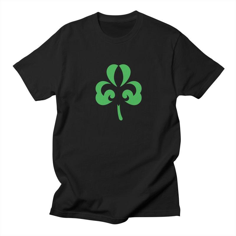 Shamrock De Lis - Green Men's Regular T-Shirt by Fees Tees