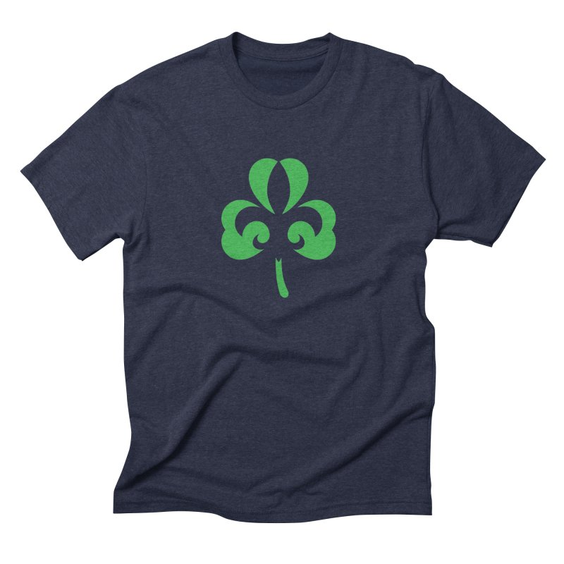 Shamrock De Lis - Green Men's Triblend T-Shirt by Fees Tees