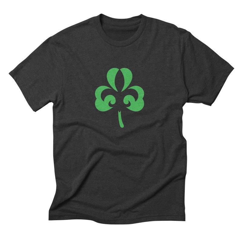 Shamrock De Lis - Green Men's Triblend T-Shirt by Fees Tees
