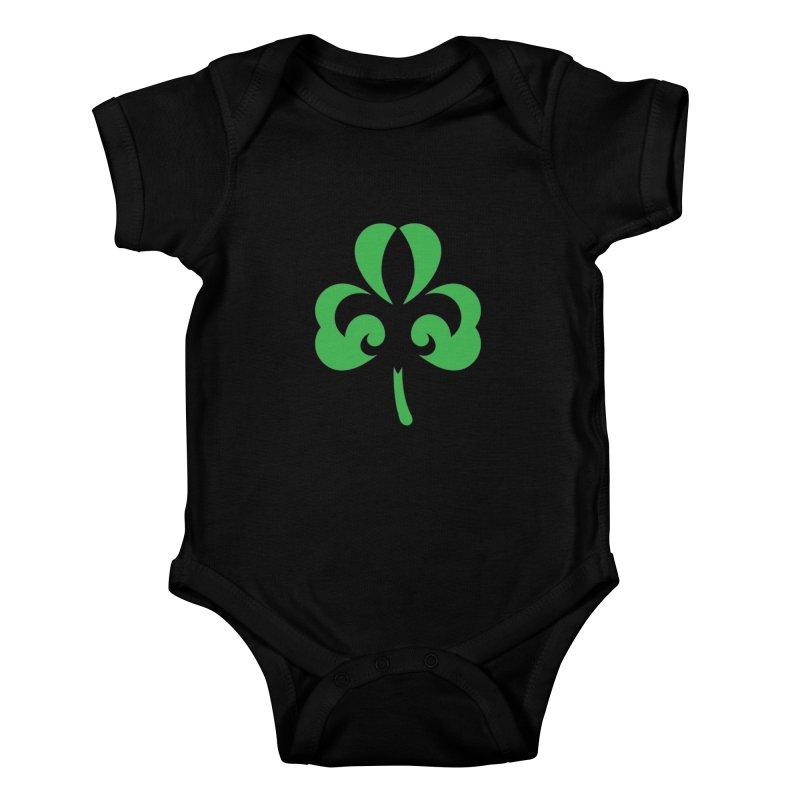Shamrock De Lis - Green Kids Baby Bodysuit by Fees Tees